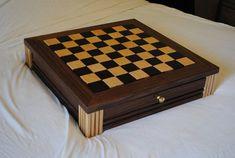 Chess Board Plans | Walnut Chess Board w/Drawers - by RickL @ LumberJocks.com ...