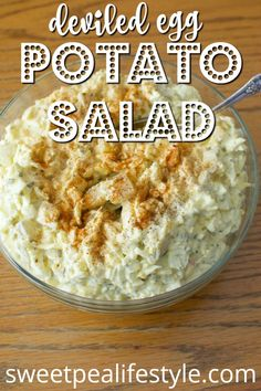 One of the BEST potato salad recipes on Pinterest! This potato salad recipe is like combining egg salad and potato salad into one recipe -- the perfect addition to any Easter menu!