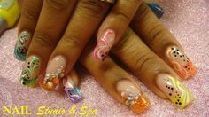 Rainbow Twist With A Touch Of Blings! - Nail Art Gallery by NAILS Magazine