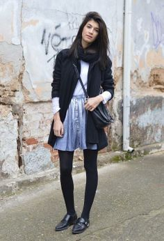 Black Cardigan, Skater Skirt, Skirts, Style, Fashion, Tights, Swag, Moda, Skirt