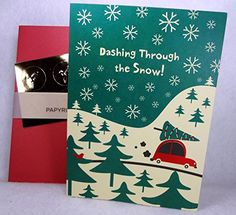 Dashing Through the Snow Christmas Holiday Cards  Set of 14 * Want additional info? Click on the image. (This is an affiliate link) #ChristmasCard