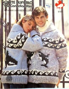 Orca / Killer Whale Sweater Pattern - 8 page PDF for Cowichan-style Canadian Vintage White Buffalo Sweater Jacket pattern Vintage Knitting, Vintage Crochet, Free Knitting, Cowichan Sweater, Men Sweater, Sweater Jacket, Sweater Knitting Patterns, Knit Patterns, Whale Pattern