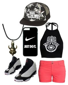 """Untitled #319"" by lean-mean-dean on Polyvore featuring Boohoo, H&M, NIKE and Vans"