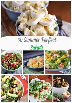 50 Perfect Summer Salads on MyLifeAsRobinsWife.com