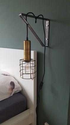 # Bedside lamp # Bedroom rnrnSource by Antique Lamps, Vintage Lamps, Interior Design Advice, Kerosene Lamp, Industrial Bedroom, Brass Lamp, Bedroom Lamps, Bedside Lamp, Design Your Home