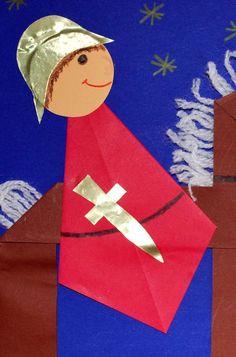 Martin basteln - Fashion and Recipes Hl Martin, Saint Martin, Diy Old Books, Old Book Crafts, Fall Crafts, Diy And Crafts, Paper Crafts, Diy For Kids, Crafts For Kids