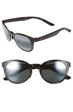 25d50d856d Women's Maui Jim 'Keanae' Sunglasses - Black And Grey Tortoise/ Grey