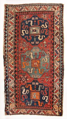 Armenian Cloudband Kazak, circa 1880, 4'2''x7'11'' Fur Carpet, Grey Carpet, Rugs On Carpet, Sisal Carpet, Carpet Decor, Pink Carpet, Room Carpet, Carpet Ideas, Armenia