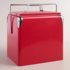 One of my favorite discoveries at WorldMarket.com: Cherry Red Retro Cooler