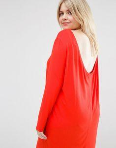 Image 3 ofASOS CURVE Mini Dress with Cowl Back