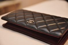 Chanel Classic Quilted Lambskin Long Bi-fold Wallet A31509