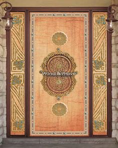 Shajaret  el-durr door,Egyptian handmade doors,Size:225x165cm,Description:Single Door,inlaid with mother of pearl and copper, with two sidelites.For more products and information please visit us at: www.windandwave-eg.com and contact us at: info@windandwave-eg.com