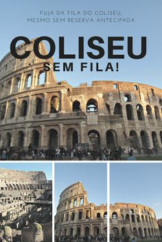 Saiba como comprar seu ingresso do Coliseu sem enfrentar uma baita fila! Europe Must See, Places In Europe, Europe Destinations, Places To Travel, Places To Visit, Travel Stuff, Packing For Europe, Europe On A Budget, Backpacking Europe