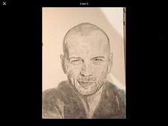 Voici un portrait de Bruce Willis ! C'est un de mes meilleurs portraits