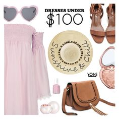 """Yoins - Dresses Under $100"" by dora04 ❤ liked on Polyvore featuring Betsey Johnson, Vans, Too Faced Cosmetics, Guerlain, Essie, under100, yoins, yoinscollection and loveyoins"