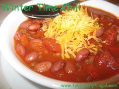 Winter Time Chili Recipe