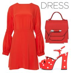 """""""dress"""" by j-n-a ❤ liked on Polyvore featuring TIBI, Yves Saint Laurent, Mackage, dress, dreamdress and dreamydresses"""