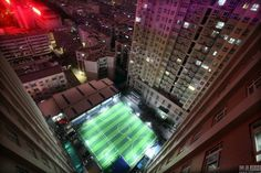 Perfect Pitch On Parking Lot Roof Suits Chinese Soccer Superfans
