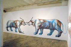 Opening Photos: Jaz- Franco Fasoli @ Ras Gallery – view more (gallery) images @ http://www.juxtapoz.com/Street-Art/qfranco-fasoliq-suben-gallery# – #streetart #constellations #animals