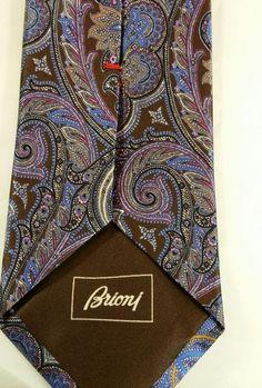 "NWT$230  Brioni Italian legend luxury sartorial tie (3""~3 1/8 width model)  #brioni #NeckTie"