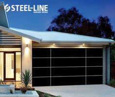 Inspirations garage door in black matt finish