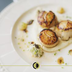 Our Scallop and Bean Cream recipe is easy and delicious. Pair with a glass of our Pinot Grigio. #PinotGrigio #EccoDomani #Scallops