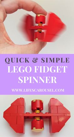 Easy Lego Fidget Spinner Using Common Parts – Life's Carousel Step by step instructions (with photos!) of how to make an easy Lego Fidget Spinner from common Lego parts. Kids love this fun and easy activity. Lego Duplo, Lego Toys, Building For Kids, Lego Building, Minecraft Lego, Minecraft Skins, Minecraft Buildings, Instructions Lego, Lego Fidget Spinner Instructions