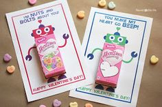 Repeat Crafter Me: Robot Valentine Printable
