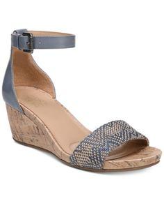 6ecfdf35f0f1 Naturalizer Cami Wedge Sandals - Black 8.5M