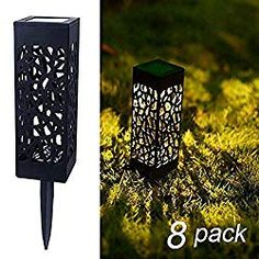 Maggift 8 Pcs Solar Powered LED Garden Lights, Automatic Led for Patio, Yard and Garden * Check this awesome product by going to the link at the image. (This is an affiliate link) Best Solar Garden Lights, Solar Lawn Lights, Solar Pathway Lights, Led Garden Lights, Walkway Lights, Pathway Lighting, Landscape Lighting, Deck Lighting, Outdoor Solar Lanterns