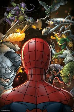 Become the next great superhero with the Marvel Spider-Man - Villains poster. Part of the Spider-Man collection, this poster will be the centerpiece in any superhero's room. Amazing Spiderman, All Spiderman, Spiderman Kunst, Marvel Comics, Marvel Heroes, Marvel Characters, Spectacular Spider Man, Spider Verse, Held