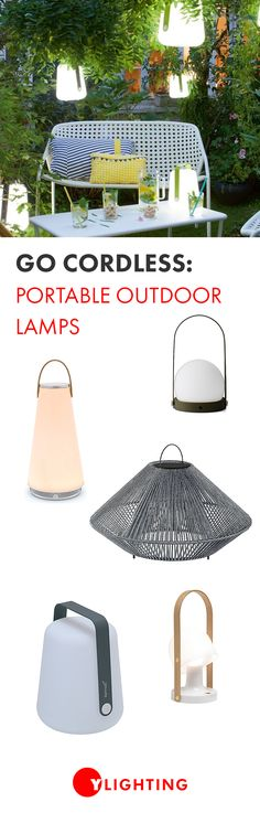 Light the way on all of your outdoor adventures with the best cordless outdoor lights for everything from table-top lamps to floor lamps to portable speaker lights. #cordlesslighting #portablelights #lighting #portables #outdoorlighting #outdoordecor #outdoordining #outdoorlights