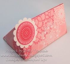 Kitty Stamp: Petite Pocket Triangle Tutorial and Flap Sided Box