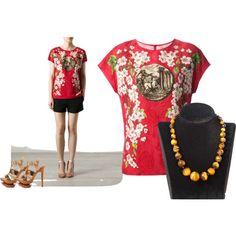 "Dark Brown GemStone Necklace: http://etsy.me/1iECCDA  ""Luxury :) Dark Brown GemStone Necklace"" by dearmissj on Polyvore"
