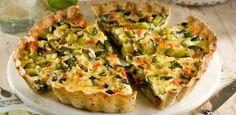 La Salteña - Tarta Tricolor de Zucchini Sem Gluten Sem Lactose, Sin Gluten, Good Food, Yummy Food, Salty Foods, Savory Tart, Cooking Recipes, Healthy Recipes, Best Cookie Recipes