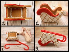 LilaLoa: Gingerbread Sleigh Tutorial and Template Her stuff is incredible Homemade Gingerbread House, Gingerbread House Patterns, Gingerbread House Template, Cool Gingerbread Houses, Gingerbread House Parties, Gingerbread Village, Christmas Gingerbread House, Christmas Sweets, Christmas Cooking
