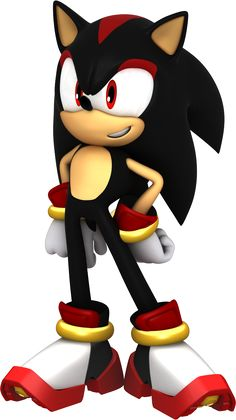 Aww Sonic  (dressed as shadow)
