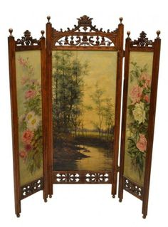 ~ Victorian Dressing Screen ~ | liveauctioneers.com                                                                                                                                                      More