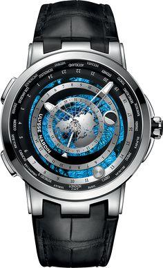 La Cote des Montres : La montre Ulysse Nardin Executive Moonstruck Worldtimer - Un ballet céleste tel qu'observé depuis la Terre