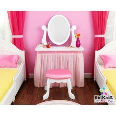 diy vanity for little girl. Pink Vanity for my pretty little girl  over the drinks table DIY Pinterest Girls vanity Vanities