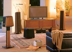 """A """"vintage"""" home theatre system with some #Sonusfaber #loudspeakers."""