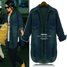 Plus Size Fall Fashion 2014 | Free Shipping 2014 spring autumn Fashion plus size 4XL denim outerwear ...