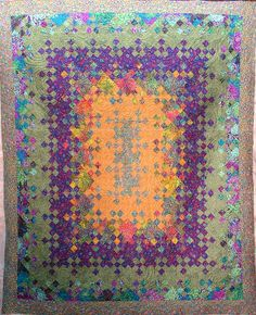 Quilt Vine: Kaffe Blooming Nine Patch