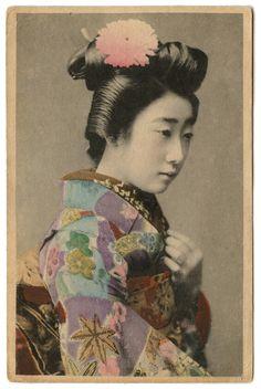 Old Japanese Photo Geisha Lady