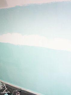 DIY tutorial: Geef je muur een ombre effect via DaWanda.com