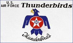 Flag the Day Thunderbirds Flag  Fly your way to A1 Flags & Poles for your flags #AFThunderbirds #flags #rvflagpoles #flagoftheday http://www.a1flagsnpoles.com/thunderbirds-flag