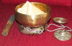 Hand Hammered Singing Bowl with Free Tingsha  by NepalHandmade, $67.00