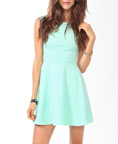 Curve Stitched Skater Dress | FOREVER 21 - 2000049959 love this color.