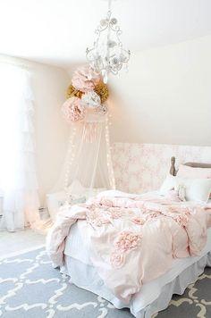 Vintage little Girls Room Reveal - Rooms For Rent blog: