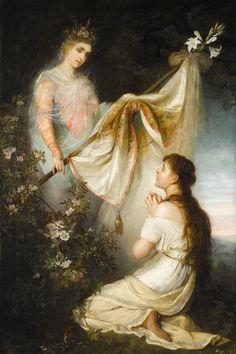 Henryk Siemiradzki - Giovanna D'Arco prega la Vergine